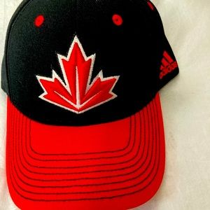 NWOT Adidas  unisex Canadian black and red hat